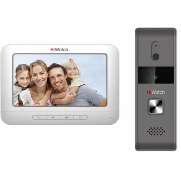 Аналоговый комплект домофонии HiWatch DS-D100K: вызывная панель + монитор